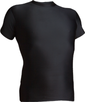Black Kobe Sportswear 8910A Short Sleeve Compression Shirt | Blanksportswear.ca