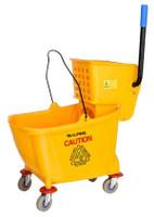 Mop Bucket & Side Wringer Combo Yellow