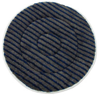 "17"" GRAY Microfiber CARPET BONNET w/Scrub Strips"