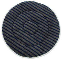 """17"""" GRAY Microfiber CARPET BONNET w/Scrub Strips"""
