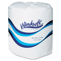 WINDSOFT  Single Roll Two Ply Premium Bath Tissue, 24 Rolls/Carton