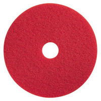 "17"" Red Buffing Floor Pad"