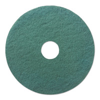 "17"" Green Heavy-Duty Scrubbing Floor Pad"