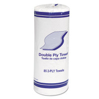 "Kitchen Roll Towels, 2-Ply, 11"", White, 85/Roll, 30 Rolls/Carton"