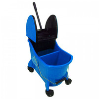 Blue 35 Quart Dual-Cavity Mop Bucket / Wringer Combo