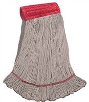 "LARGE COTTON Blend LOOPED-END Wet Mop--5"" BAND"