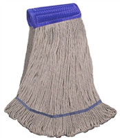 "X-LARGE COTTON Blend LOOPED-END Wet Mop--5"" BAND"