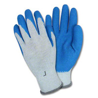 Safety Zone Medium Weight String Latex Coated Glove - Large