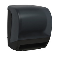 InSpire Electronic Hands Free Roll Towel Dispenser (Black  Translucent)