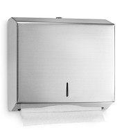 STAINLESS STEEL MULTIFOLD PAPER TOWEL DISPENSER