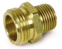 "HEX REDUCING NIPPLE 1/2"" X 3/8"" Brass"