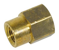 "REDUCING COUPLER BRASS 1/4"" X 3/8"""