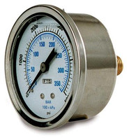 GAUGE, 0-4000 PSI, S.S. BACK