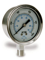 GAUGE, 0-4000 PSI, S.S Bottom Mount
