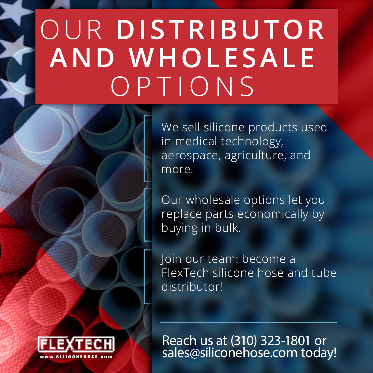 Silicone Hoses and Tubes for Distributors - Flex Technologies