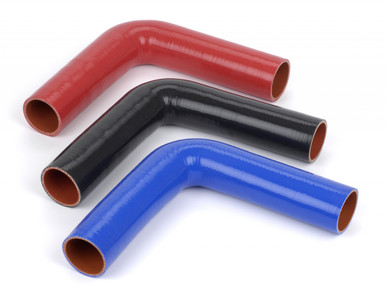 "silicone hose 0.625"" ID 90 Degree, 10"" Legs"