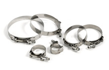 """100% Stainless Steel T-Bolt Hose Clamps - Premium Quality """"TRUE-SEAL"""" Brand"""