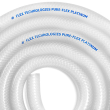 "0.62"" (5/8"") ID, FDA, USP Class VI Platinum Silicone w/Polyester Braid (Food and Pharma-Grade)"