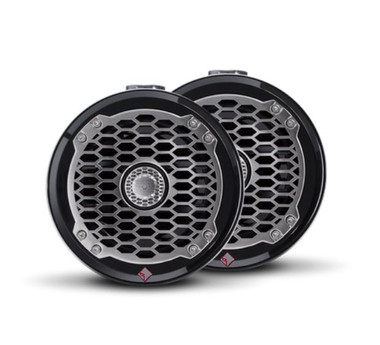 """The PM2652W-MB is a Punch 6.5"""" 2-way mini wakeboard tower speaker enclosure featuring marine grade weather proofing technologies. Supplied in all black with a stainless steel sport grille."""