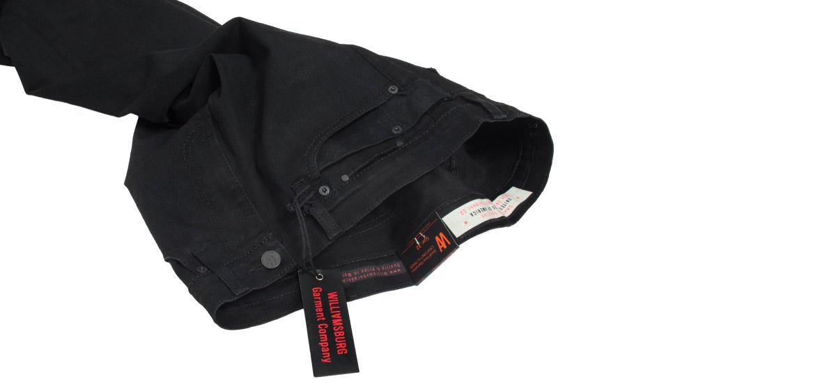 Black skinny jeans for men made in USA