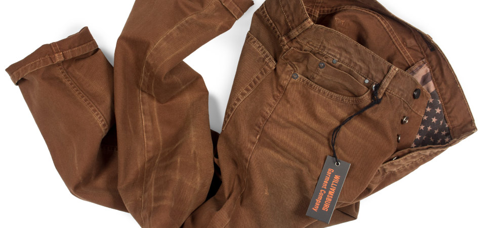 Vintage American made jeans by Williamsburg Garment Company, raw denim specialist