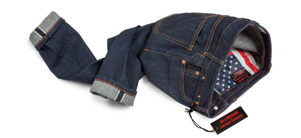 Women's selvedge denim American made jeans