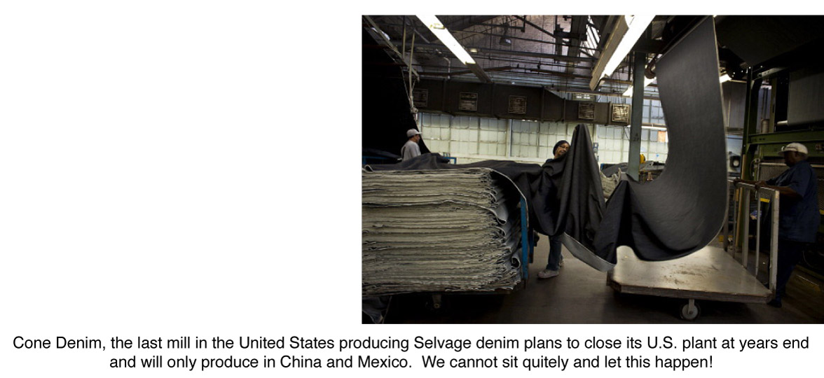 Cone Denim ends American made production at White Oak Plant