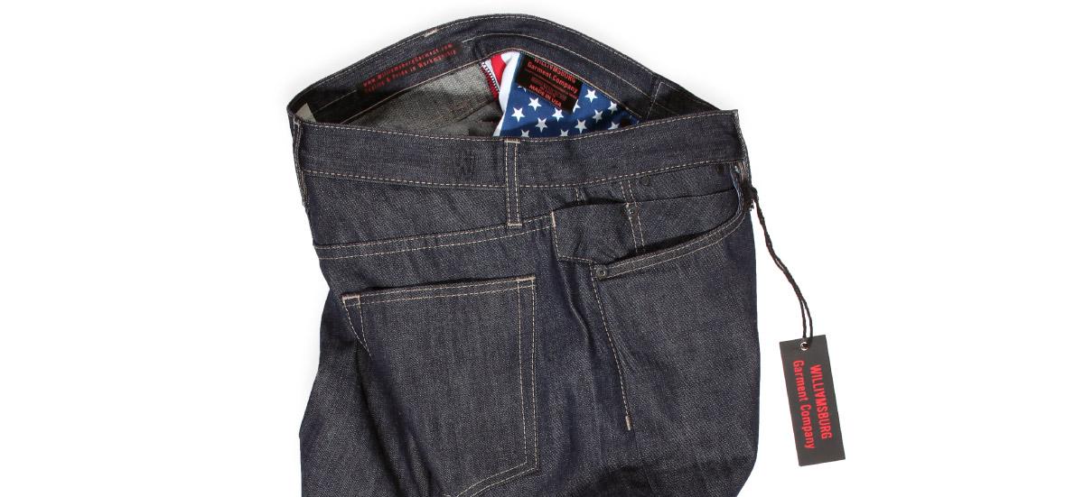 American made selvedge raw denim jeans