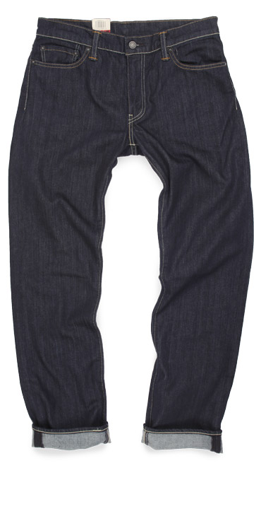 Levi's 504 straight leg dark denim jeans