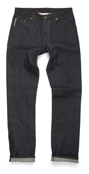Raleigh Denim Jones Thin Slim Straight raw jeans
