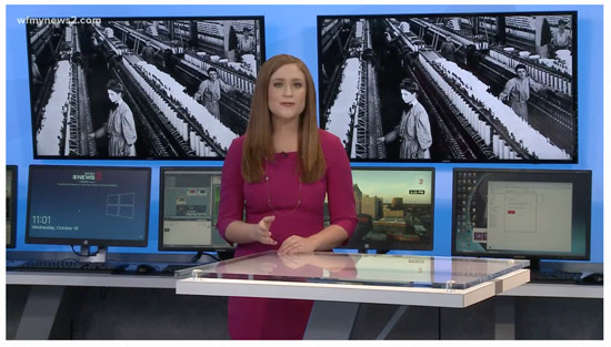 Cone Denim Mills News2 video report of White Oak Plant Closing