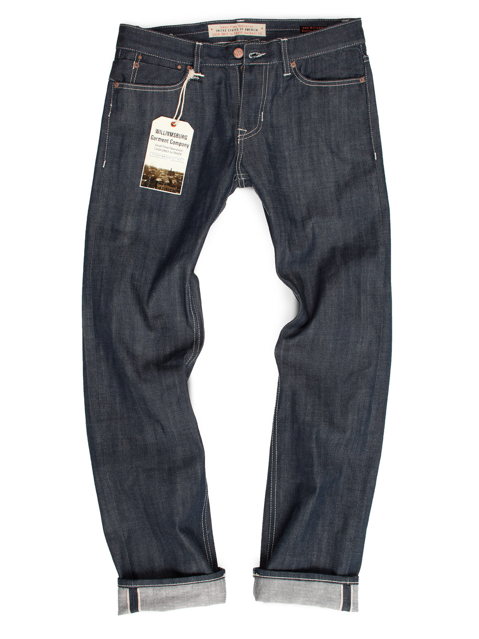 mens raw denim selvedge jeans basic fit