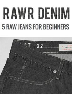 5 Raw denim jeans for beginners - black selvedge jeans image