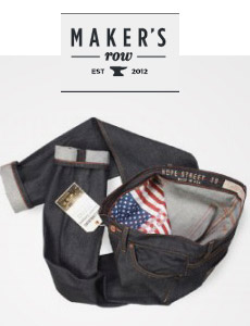 Made in USA jeans with american flag pocket bags