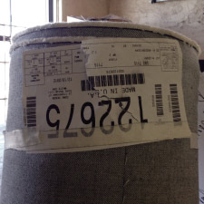 Roll of raw denim american made fabric