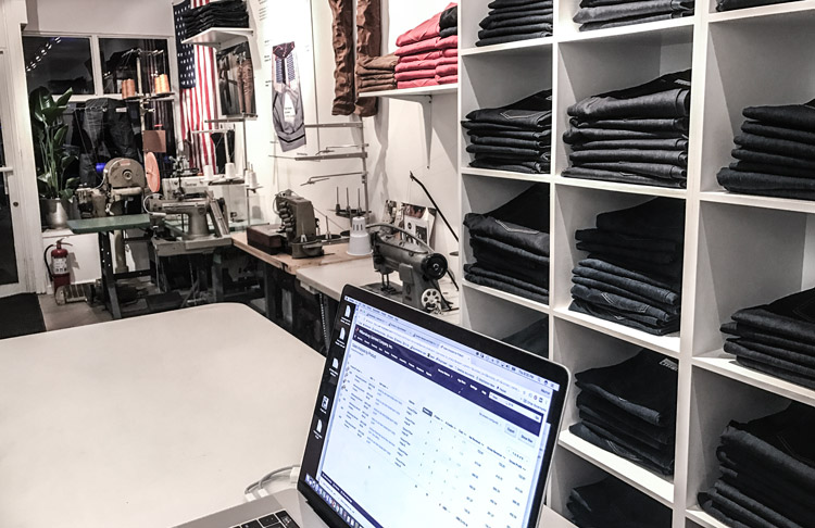 Williamsburg Garment Co. raw denim retail denim store Brooklyn NY