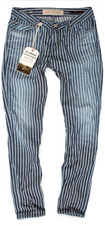womens railroad engineer stripe pants