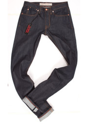 Selvedge Big and Tall jeans made in USA. Tall mens slim fit raw denim in long 38 inseams.