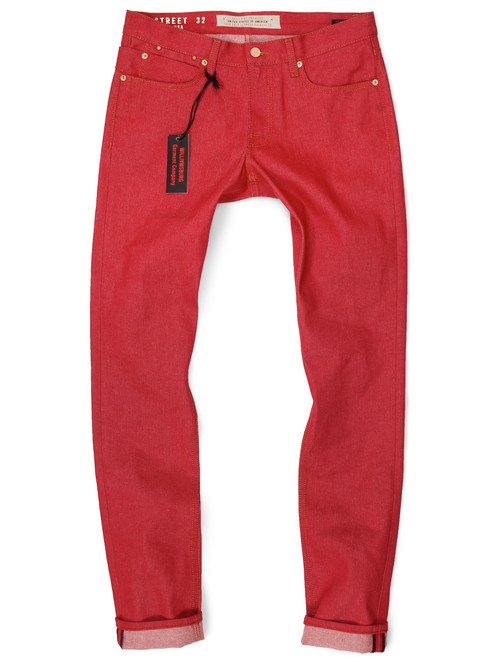 Tall Mens Red Jeans American made Jeans Big and Tall