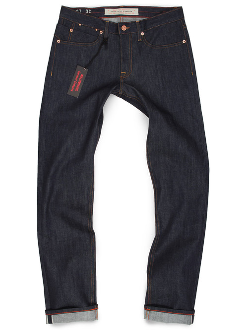 Mens Stretch Selvedge Raw Denim American Made Jeans