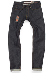 Selvedge denim American made jeans for men. Produced in 15-oz Cone Mills White Oak raw denim.