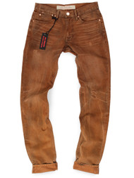 Vintage washed American made jeans with button fly inspired by canvas work pants.
