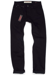 Men's Jet Black Relaxed Straight Jeans. American made jeans.