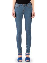 Women's skinny jeans in Janet medium blue stone wash.