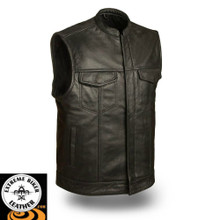 FMM690BSF Blaster Gun Vest Leather Motorcycle Vest | First Manufacturing