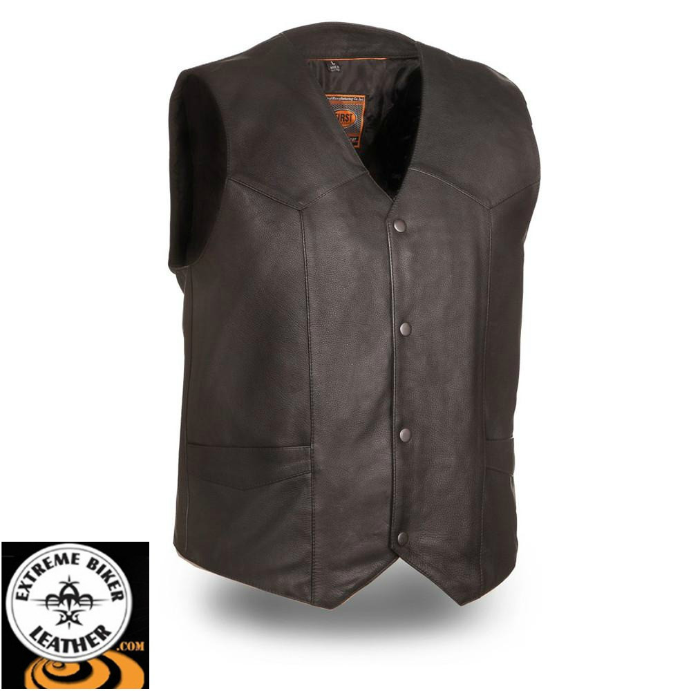 82bd70f8d Texan FIM643CCB Classic Western MC Motorcycle Vest | First Manufacturing