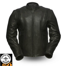 REVOLT FIM271CPM Men's Leather Jacket | First Manufacturing