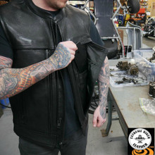 Rampage FIM649CPM Men's Leather Vest | First Manufacturing