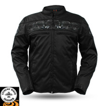 Savage Skulls FIM450TEX Men's Textile Motorcycle Jacket | First Manufacturing