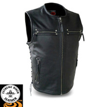 Brawler FIM648CSL Men's Leather Vest | First Manufacturing